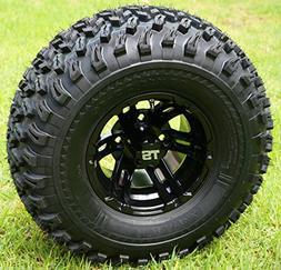 """10"""" BULLDOG Black Wheels and 22x11-10 All Terrain Golf Cart"""