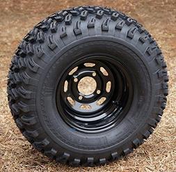 "10"" Black Steel Golf Cart Wheels and 22x11-10 All Terrain Go"