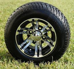 "10"" BULLDOG Machined Golf Cart Wheels and 205/50-10 DOT Golf"