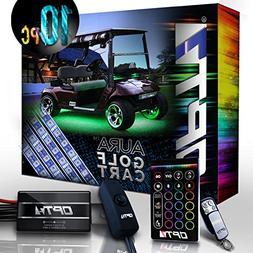 10pc Aura Golf Cart Underbody Glow LED Lighting Kit | Multi-