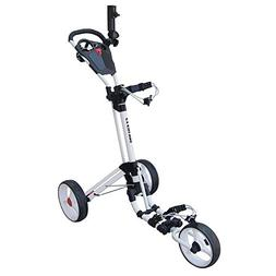 Qwik-Fold 2.0 Three Wheel Push and Pull Cart, White