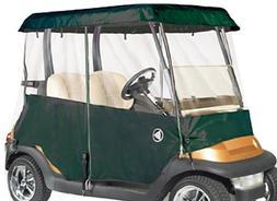 2 Passenger Drivable Golf Cart Enclosure in Green