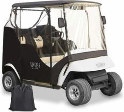 2 Passenger Driving Enclosure Golf Cart Cover for EZGO TXT G