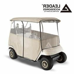 2 Passenger Driving Enclosure Golf Cart Cover Fits EZ GO, Cl