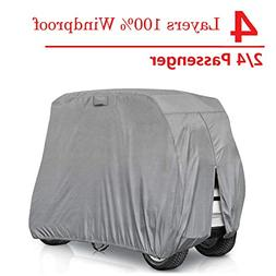 RVMasking 2 Passenger Golf Cart Cover Extra-Thick 4-ply Fits