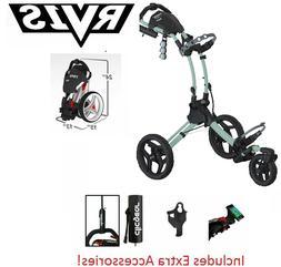 EXTRAS! Rovic RV1S SWIVEL Clicgear Compact Golf Push Cart Ch