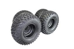 22x11.00-10 with 10x7 Matte Black Wheels for Golf Cart