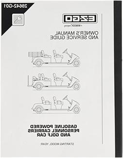 EZGO 28642G01 2001+ Owner's Manual and Service Guide for Gas