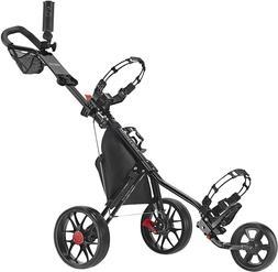 🔥Caddytek 3 Wheel Golf Push Cart Lightweight Close Foldin