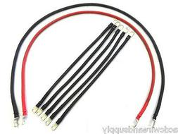 4 Awg HD Golf Cart Battery Cable 7 pc Set  Club Car DS IQ Se
