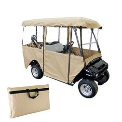 Popsport 4 Passenger Golf Cart Cover Driving Enclosure Strap