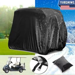 4 passengers golf cart cover storage waterproof