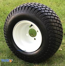 "8"" WHITE Steel Golf Cart Wheels and 18x8.50-8"" Turf/Street G"