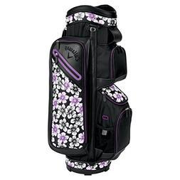 Callaway Golf 2018 Uptown Cart Bag, Floral Black/Purple