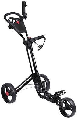 New Qwik-Fold Golf 2.0 Three Wheel Push Cart for Golf Bag -