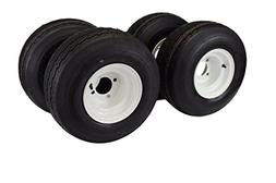 18x8.50-8 with 8x7 White Assembly for Golf Cart and Lawn Mow