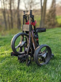 Bag Boy Automatic Folding Push/Pull Golf Cart Bag Carrier
