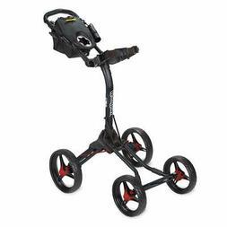 Bag Boy BB71795 Quad XL 4 Wheel Push Cart, Matte Black/Red