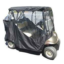 Black Golf Cart Driving Enclosure 2 Seater Heavy duty, fits