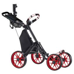 CaddyTek CaddyCruiser ONE v4 Folding 4 Wheel Golf Buggy / Pu