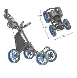 Caddytek Caddycruiser One V8 4-Wheel Golf Push Cart - Blue -