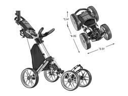 CaddyTek Caddycruiser One Version 8 - One-Click Folding 4 Wh