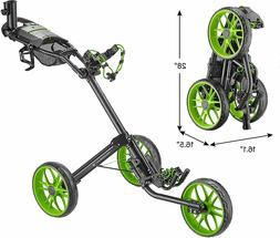 CaddyTek Caddylite 15.3 V2 - Deluxe Quad-Fold Golf Push Cart