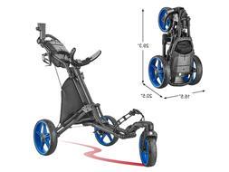 CaddyTek CaddyLite Blue Swivel Front Wheel  Golf Push Cart V