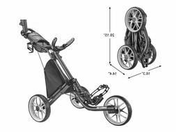CaddyTek Caddylite EZ V8 - EZ-Fold 3 Wheel Golf Push Cart Br