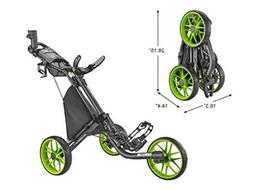 CaddyTek Caddylite EZ V8 - EZ-Fold 3 Wheel Golf Push Cart