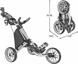 CaddyTek CaddyLite EZ V8 Golf Push Cart- Silver