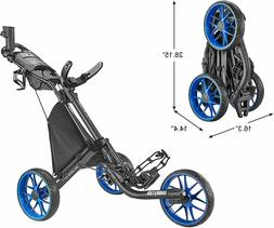 CaddyTek Caddylite EZ V8 - EZ-Fold 3 Wheel Golf Push Cart Ve