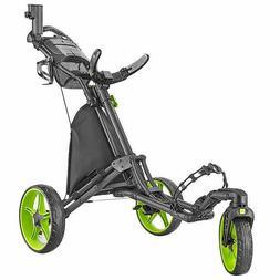 caddylite golf push cart lime green