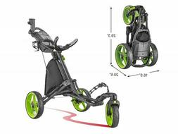 CaddyTek CaddyLite Lime Swivel Front Wheel  Golf Push Cart V