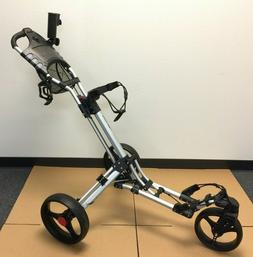 CaddyTek CaddyLite ONE-Swivel Front Wheel Golf Push Cart SIL