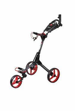 CUBE CART 3 Wheel Push Pull Golf Cart: Smallest Folding Ligh