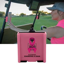 Cell Phone Holder for Golf Carts - Pink Ribbon Phone Caddy