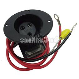 48 Volt Charger Receptacle and Fuse Assembly   Electric Golf