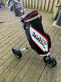 Clicgear model 4.0 Push Cart with Titleist Tour Staff Golf B