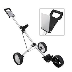 Golf Clubs & Equipment New Foldable 3 Wheel Push Pull Golf C