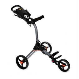 BAGBOY COMPACT 3 GOLF BUGGY  - SILVER/BLACK/ORANGE - NEW - A