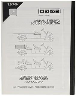 EZGO 607362 2007 Current Owners Manual for Gas Cargo Personn