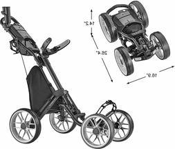 ⛳️DARK GREY- CADDYTEK CADDYCRUISER ONE V8 4 Wheel Golf P