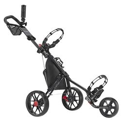 CaddyTek Deluxe 3 Wheel Golf Push Cart Version 3, CaddyLite