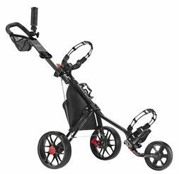 CaddyTek Deluxe 3 Wheel Golf Push Cart Version 3, CaddyLite