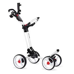 Founders Club Deluxe 4 Wheel Qwik Fold Golf Push Pull Cart w