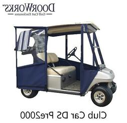 DoorWorks Hinged Door Golf Cart Enclosures - Made with Sunbr