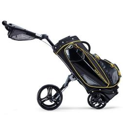 Alphard Golf Duo EVO Cart Bag, Black/Yellow
