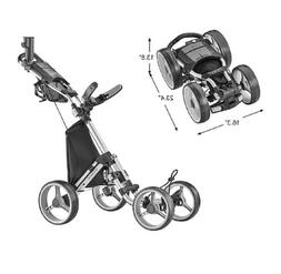 CaddyTek Explorer V8 - SuperLite 4 Wheel Golf Push Cart, Exp