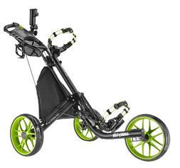 CaddyTek EZ-Fold 3 Wheel Golf Push Cart, Lime